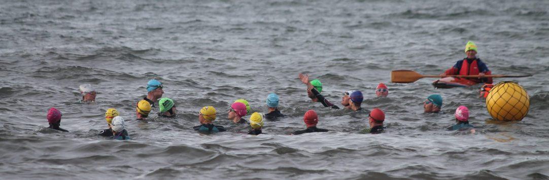 Open water coaching at Prestonpans