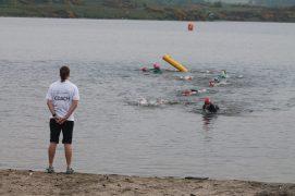 open water coaching with Pentland Junior Triathlon club